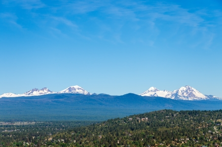 cascade range: View of the Three Sisters, part of the Cascade Range Stock Photo