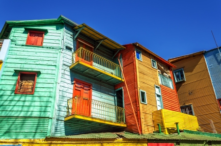 la boca: Bright colors in La Boca neighborhood in Buenos Aires, Argentina Stock Photo