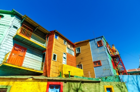 la boca: Colorful Caminito street in the La Boca neighborhood of Buenos Aires