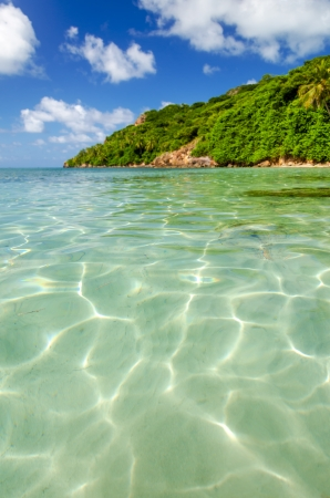 sands: View of crystal clear Caribbean water on the island of San Andres y Providencia, Colombia