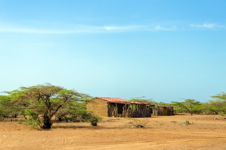 mud house: Rustic house made of mud in La Guajira, Colombia