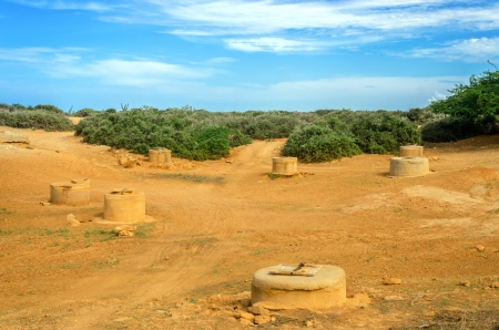 wells: Wells in a desert in La Guajira, Colombia used for water by the indigenous Wayuu