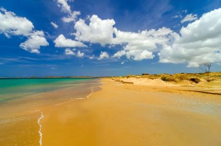 Wide deserted beach in La Guajira, Colombia photo