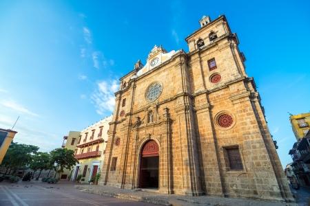 Historic San Pedro Claver church in the center of Cartagena, Colombia