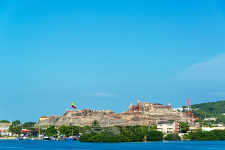colombia: San Felipe de Barajas fortress in Cartagena, Colombia is one of the cities principal attractions