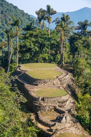 The Ciudad Perdida, or Lost City in the Sierra Nevada de Santa Marta in Colombia