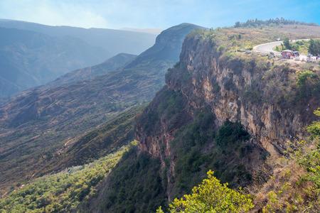 santander: View of Chicamocha Canyon near Bucaramanga in Santander, Colombia
