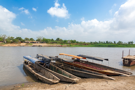 magdalena: River crossing on the Magdalena river in Colombia on the way to the historic city of Mompox