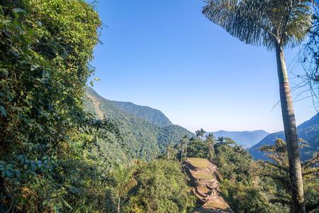 The Lost City, or Ciudad Perdida in the Sierra Nevada de Santa Marta mountain range in Colombia