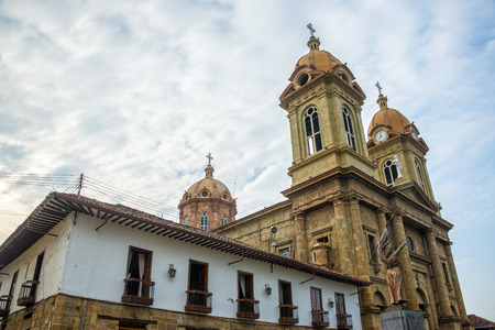 santander: Cathedral on the main plaza in Socorro, a town in Santander, Colombia