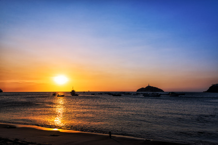 marta: Sunset off the coast of Santa Marta, Colombia