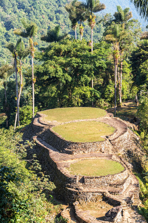 lost city: Ancient city of Ciudad Perdida near Santa Marta, Colombia Stock Photo