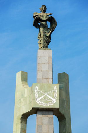 carabineer: Monument in Santiago, Chile to fallen carabineers Stock Photo