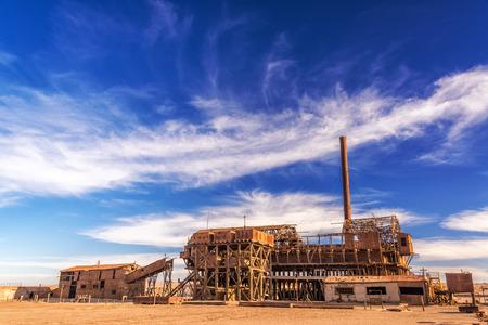 サンタ ローラ、チリの硝石製油所ゴーストタウンのまま