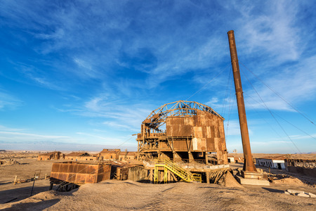 deserted: Remains of a saltpeter refinery in ghost town of Santa Laura, Chile