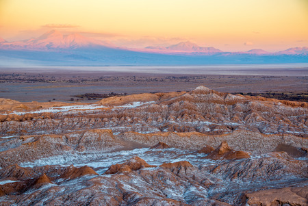 san pedro: Sunsetting on the mountains around San Pedro de Atacama, Chile