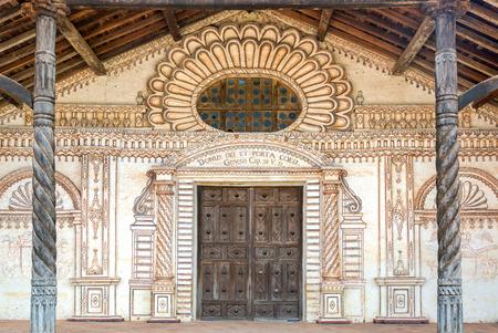 jesuit: Facade of the UNESCO World Heritage Jesuit Mission in San Javier, Bolivia