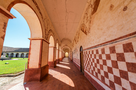 jesuit: Corridor in the courtyard of the Jesuit Mission in San Jose de Chiquitos, Bolivia