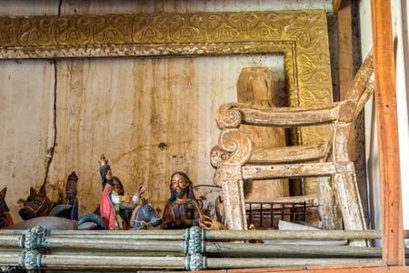 jesuit: Old church artwork in need of restoration in the UNESCO World Heritage Jesuit Mission of San Ramon, Bolivia