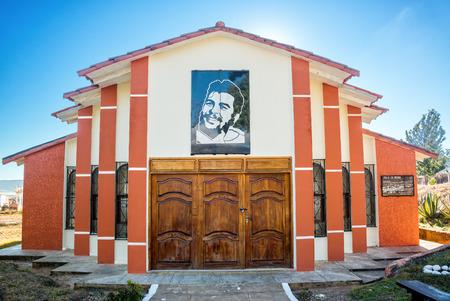 che guevara: Mausoleum of the original burial spot of Ernest Che Guevara in Vallegrande, Bolivia