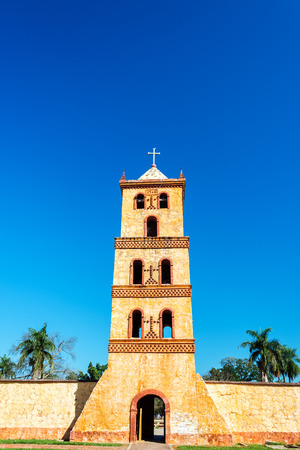 jesuit: Bell tower of the UNESCO World Heritage Jesuit Mission at San Jose de Chiquitos in Bolivia