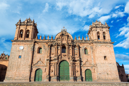 cuzco: Cathedral of Cusco, Peru on the Plaza de Armas in the historic center of the city