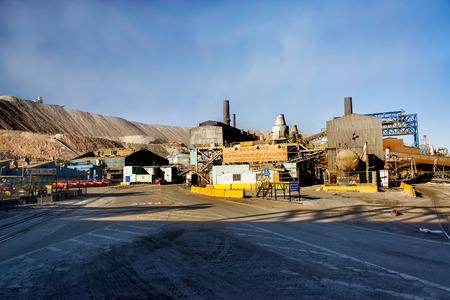 refine: CHUQUICAMATA, CHILE - JULY 1: Facilities to refine the copper from the mine in Chuquicamata, Chile on July 1, 2014