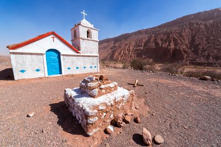 Chapel of San Isidro in the Atacama desert near San Pedro, Chile