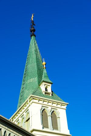 valparaiso: Green Lutheran church in Valparaiso, Chile