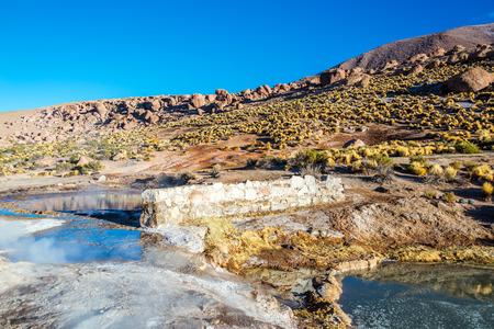 san pedro: Landscape at El Tatio Geyser near San Pedro de Atacama, Chile