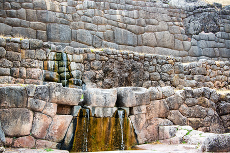 cuzco: Working fountains in the ruins of Tambomachay near Cuzco, Peru