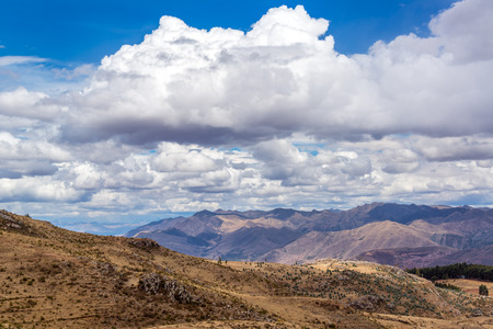 sacred valley of the incas: View of the Sacred Valley near Cuzco, Peru