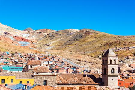 Vista De Potosi Bolivia Con La Iglesia De San Benito Visible En