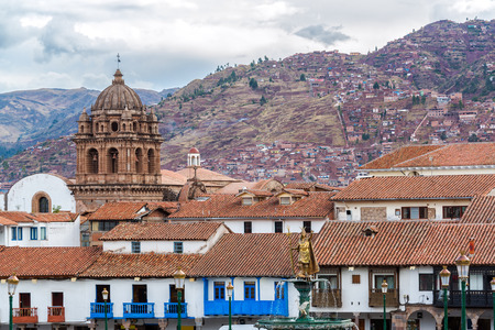 View from the Plaza de Armas in the center of Cuzco, Peru Stock Photo