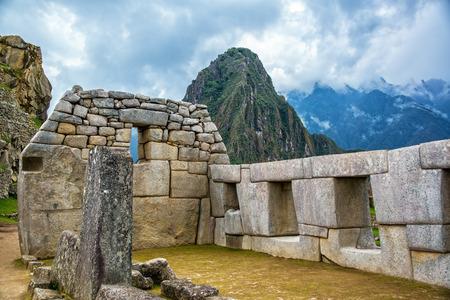 stonework: Intricate Incan stonework at Machu Picchu, Peru