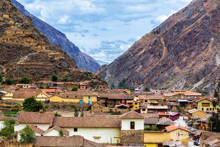peru: Small town of Ollantaytambo, Peru in the Sacred Valley near Machu Picchu