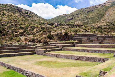 incan: Ancient Incan ruins of Tipon near Cusco, Peru