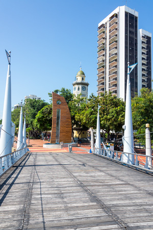 guayaquil: View of the Malecon 2000 in downtown Guayaquil, Ecuador Stock Photo