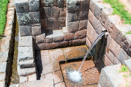 incan: Still functioning canal at the Incan ruins of Tipon near Cusco, Peru