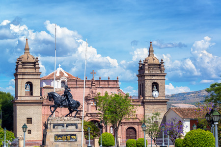 puna: View of the cathedral and the Plaza de Armas in Ayacucho, Peru