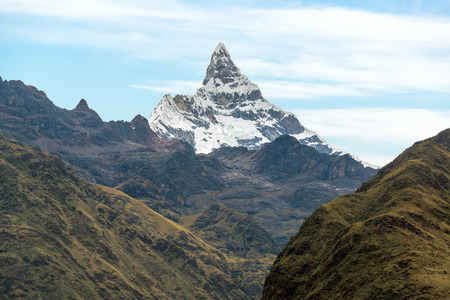 alpamayo: View of Alpamayo Mountain in the Cordillera Blanca near Huaraz Peru