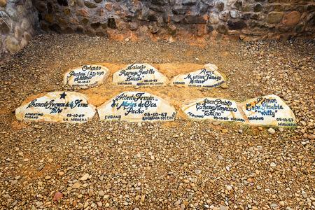 che guevara: Site where Ernesto Che Guevara was buried in Vallegrande Bolivia with several comrades