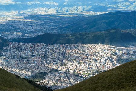 ecuador: Quito Ecuador sprawling out over the landscape