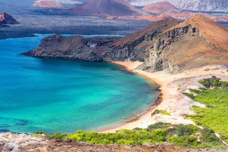 Hermosa playa en Isla Bartolomé de las Islas Galápagos en Ecuador