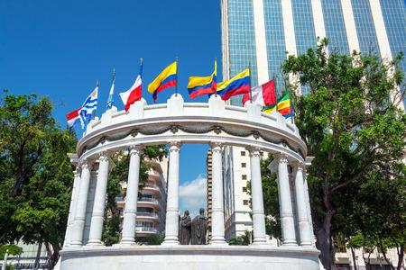 jose de san martin: The rotonda in Guayaquil, Ecuador is a monument to Simon Bolivar and Jose de San Martin Editorial