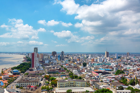 Cityscape view of Guayaquil, Ecuador Stock Photo
