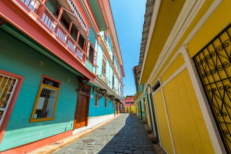 guayaquil: Street view in historic Las Penas neighborhood in Guayaquil, Ecuador Stock Photo