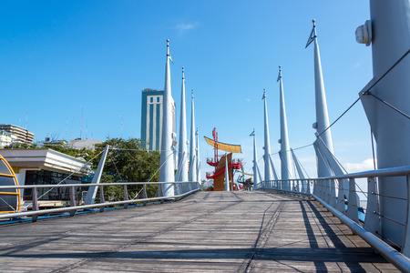 guayaquil: Boardwalk on the Malecon in Guayaquil, Ecuador Stock Photo