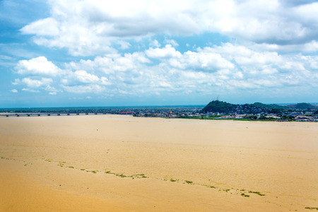 guayaquil: View of the Guayas River in Guayaquil, Ecuador