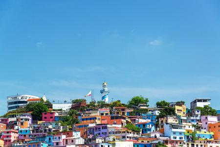 과야 킬, 에콰도르에서 산타 아나 언덕보기 스톡 콘텐츠